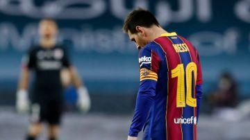 Leo Messi, cabizbajo
