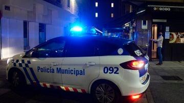 Efectivos de la Policía Municipal en Valladolid