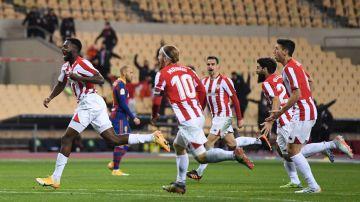 Iñaki Williams celebra un gol con el Athletic