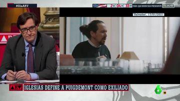 """Illa responde a las declaraciones de Iglesias sobre Puigdemont: """"No respetó el estado de derecho"""""""
