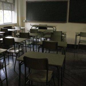 Interior de un aula en un colegio
