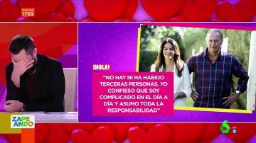 El chiste que mandaron a Dani Mateo sobre la separación de Bertín Osborne y Fabiola Martínez que provoca las risas del plató