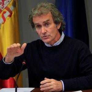 El director del Centro de Alertas y Emergencias (CCAES), Fernando Simón, durante la rueda de prensa.