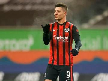 Luka Jovic, en un partido del Eintracht