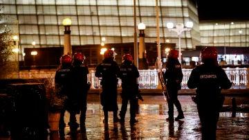 Imagen de archivo de agentes antidisturbios de la Ertzaintza