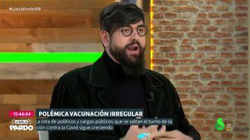"""Manu Sánchez, sobre los que se saltan el protocolo: """"Que los golfos se quieran colar demuestra que no hay 5G en las vacunas"""""""