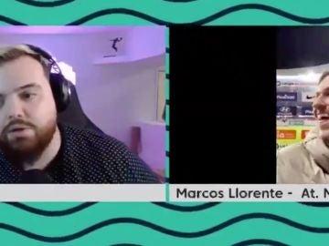 Ibai Llanos entrevistando a Marcos Llorente