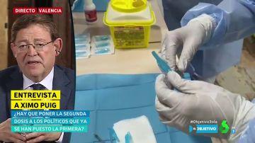 """Ximo Puig insiste en no dar la segunda dosis de la vacuna a los que se salten el protocolo: """"Se trata de administrarla a quien la necesite"""""""