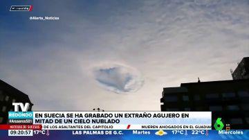 ¿A qué se debe este extraño agujero que se da en el cielo cuando hay nubes?