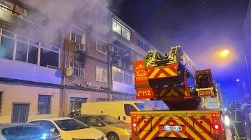 Incendio en una vivienda en Alcalá de Henares (Madrid)