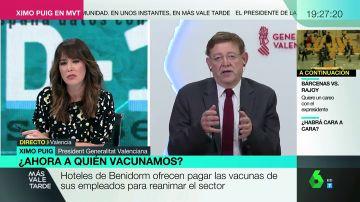 """La contundente respuesta de Ximo Puig a quienes plantean pagar por la vacuna para salvar el turismo: """"Lo que urge es salvar vidas"""""""