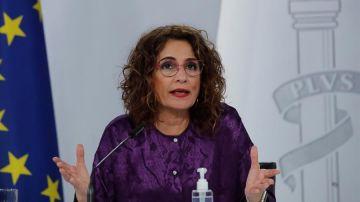 La ministra portavoz y titular de Hacienda, María Jesús Montero