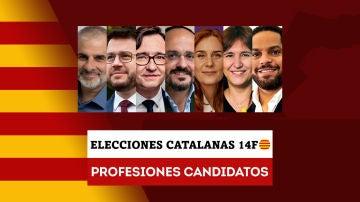Estas son las profesiones de los candidatos a las elecciones catalanas