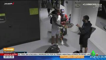 El curioso gesto de Rafa Nadal al encontrarse con Serena Williams en el complejo del Open de Australia
