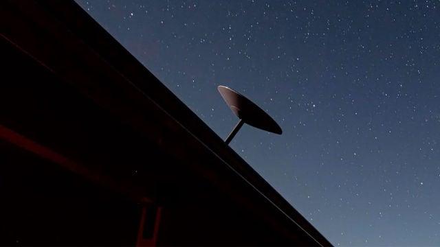 Una antena de Starlink