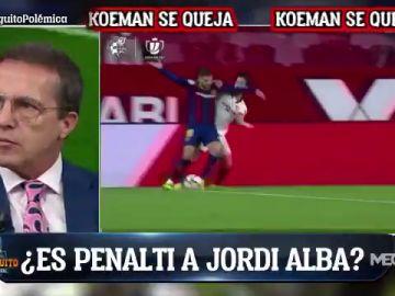 """Cristóbal Soria, sobre el posible penalti de Suso a Jordi Alba: """"No es ni falta"""""""