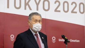 Yoshiro Mori, presidente del Comité Olímpico de Japón