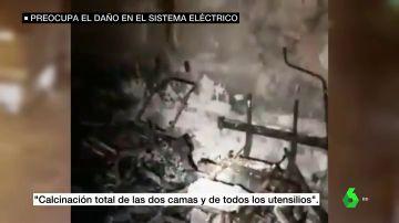 Las imágenes de la habitación calcinada por un paciente COVID del Hospital Puerta del Mar, Cádiz