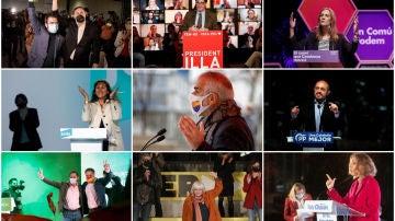 Candidatos de los partidos a la presidencia de la Generalitat el 14F