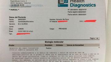 El documento que difundió Alvise Pérez