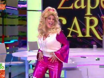 Valeria Ros arrasa en su entrada al plató como Dolly Parton: así ha sido su espectacular baile
