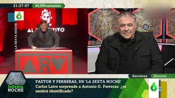La reacción de Antonio García Ferreras al encontrarse con su propio 'clon' en laSexta Noche