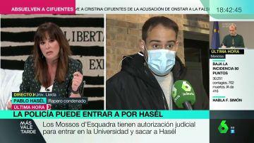 """Pablo Hasél, instantes antes de su detención: """"Pacífico no va a ser porque me van a secuestrar por la fuerza armada"""""""