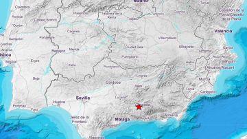 Imagen del terremoto registrado en Granada