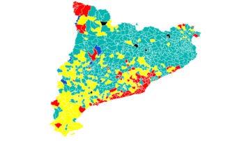 Mapa de resultados de las elecciones catalanas 2021: victoria socialista y mayoría independentista