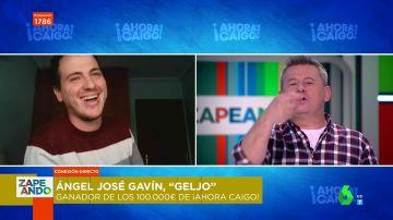 """La confesión de 'Geljo' sobre la pregunta que le hizo ganar 100.000 euros en 'Ahora Caigo' deja alucinados a los zapeadores: """"No me la sabía"""""""