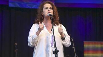 La diputada del PSOE Carla Antonelli durante la ceremonia de entrega de premios 'Legaynes'.