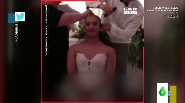 Una pareja se rapa la cabeza en su boda para recaudar dinero contra el cáncer