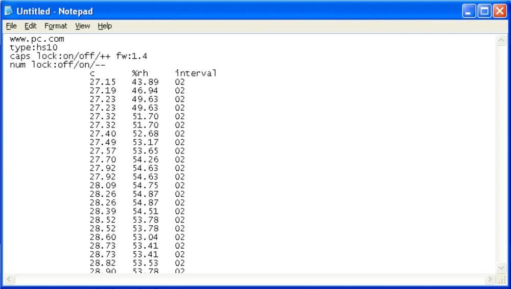 Notepad de Windows XP.