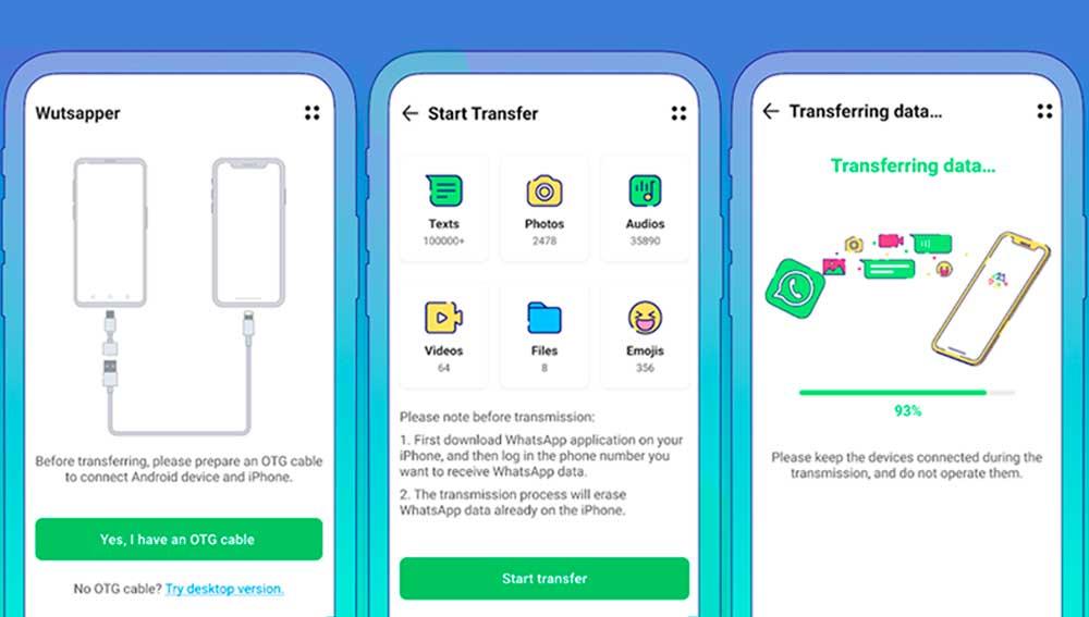 Transferir tu cuenta e WhatsApp de Android a iPhone