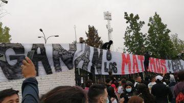 Pancarta de los ultras del Colo Colo