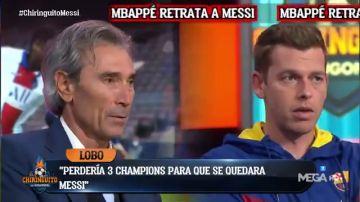 El cara a cara más culé en 'El Chiringuito': Lobo Carrasco y Jota Jordi debaten sobre la situación de Messi