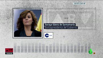 Soraya Sáenz de Santamaría, en 2018