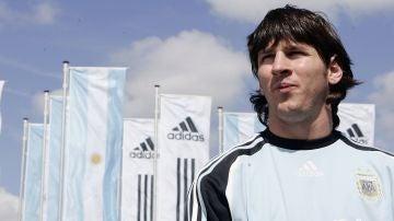 Leo Messi, con la selección argentina