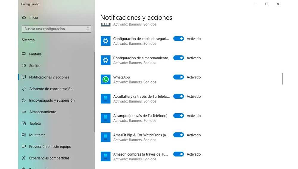 Activando las notificaciones de WhatsApp en Windows