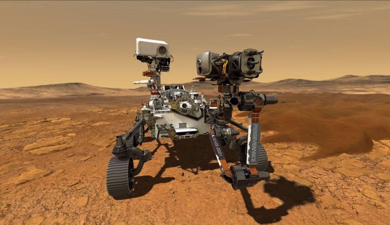 Imagen del rover Perseverance de la NASA