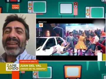 """La surrealista intervención de Juan del Val en Zapeando: """"Si está habiendo un seísmo en tu zona te permitimos dejar la entrevista"""""""