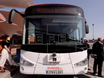 Primer autobús sin conductor en Málaga