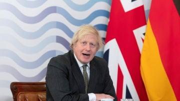 Boris Johnson, durante la cumbre del G7