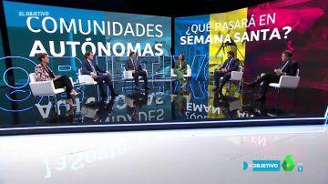 ¿Deben cerrar perimetralmente las CCAA en Semana Santa? Los presidentes autonómicos responden en 'El Objetivo'