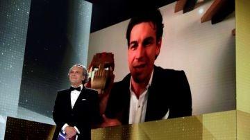 Momento en el Mario Casas recibió el Goya a Mejor Actor