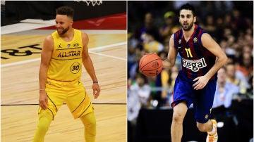 Steephen Curry y Juan Carlos Navarro