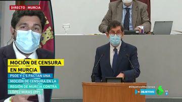 """La crítica de López Miras a Cs por pactar """"con un imputado"""": """"¿A esto lo llaman luchar contra la corrupción?"""""""