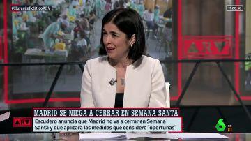 """Carolina Darias responde a Ayuso: """"En Semana Santa va a estar toda España perimetrada y tendrá que aceptarlo"""""""