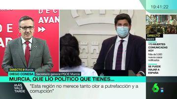 Diego Conesa, secretario general del PSOE en Murcia