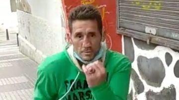 Polí Diaz, boxeando en plena calle